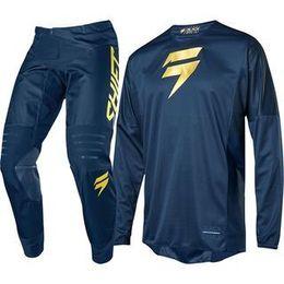 2019 sujeira do kit 2019 Sapphire blue Label Shift BICICLETA SUJEIRA Jersey E Pant Motocross Kits quente MX traje Moto Combo L desconto sujeira do kit
