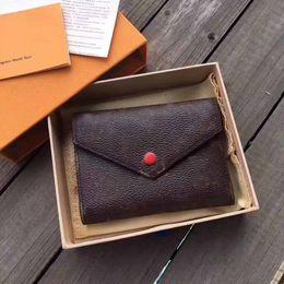 Marca de calidad superior Alpes impresos diseñador carteras de cuero reales para los hombres de lujo Pasaporte bolsos mujeres Monedero con caja 41938 desde fabricantes