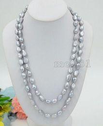 enorme collar de perlas barrocas del mar del sur Rebajas ENORME NATURAL 10-11 MM MAR DEL SUR ORIGINAL PLATA GRIS BARROCO PERLAS 48