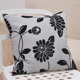 Sofá gris negro online-venta caliente 43x43cm gris negro silla roja sofá de tela de color naranja decoración del coche salón amortiguador trasero funda de almohada