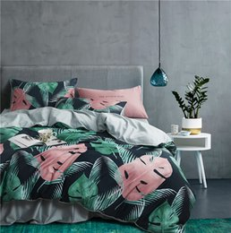 22Colors  Egyptian Cotton Bohemia Bedding Set Queen King size 3d Flower Leaf print Duvet Cover Bed sheet set Pillowcase от