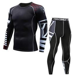 aec4c241828ca Ropa deportiva de los hombres Camiseta de fitness casual de secado rápido  Tops elásticos Pantalones Traje deportivo ajustado 2019 Ropa de hombre ...