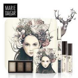 schöne augen make-up Rabatt MARIE DALGAR Make-up Set Animierte Schöne Augen Make-Up Geschenkbox Eyeliner Mascara Lidschatten Trio Set Marke
