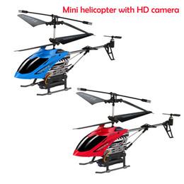 3.5-канальный гироскоп вертолета rc онлайн-2019 новый 3.5CH RC вертолет с гироскопом удерживать высоту HD камера мини RC беспилотный игрушки для мальчика дети подарок на день рождения