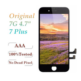 Tela de toque original do lcd da recolocação on-line-100% original lcd para iphone 7 iphone 7 plus display touch digitador tela completa com quadro completo assembléia substituição
