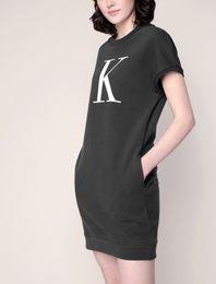 2019 cielo swing Vestito di marca delle donne Vestiti di cotone 2019 Vestiti da estate delle donne Vestito dalla maglietta del vestito dalla manica corta Autume Comodo