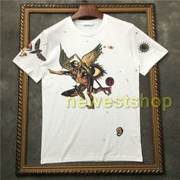 Хорошие футболки онлайн-2020 Hot Brand tag clothing men short sleeve t shirt good quality tshirt Devil's skull print t shirt Designer t shirts Camiseta tee tops