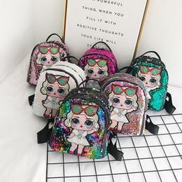 Zaini sequins online-Baby Girls Surprise Backpack 24 Styles Cartoon Unicorn Paillettes Adolescenti Anime Kids Student Borsa da viaggio Viaggi Bling Storage Bags