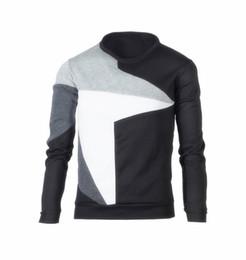 2020 hoodie liso e fino de lã Correspondência de cor dos homens Casual Velo Hoodies 2019 Gola Redonda Cor Contraste Manga Comprida Fleece Slim Fit Mens Pullover Sportswear hoodie liso e fino de lã barato