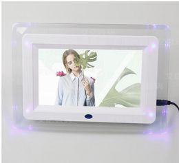 7 polegadas quadro HD TFT-LCD Digital Photo com MP3 MP4 slideshow Relógio Remote Desktop Filme Suporte ao Jogador MPEG1, MPEG2, MPEG, AVI de Fornecedores de tela branca do quadro de foto