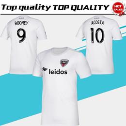 трикотажные изделия белый размер Скидка 2019 MLS Washington DC United Soccer Jerseys #9 ROONEY D. C. United away белая футбольная рубашка 2019 #10 Акоста футбольная форма размер S-XXL
