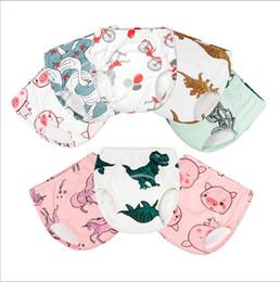 Bebek Eğitim Pantolon Tuvalet Şort Yaz Bezi Pantolon Kapak Gazlı Bez Kullanımlık İdrar Nappy Külot Pantolon Yıkanabilir Karikatür Külot Iç Çamaşırı B5562 cheap gauze cover nereden gazlı bez örtüsü tedarikçiler