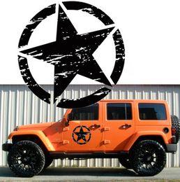 2019 autocollants graphiques de carrosserie 20´´ ARMY Star Graphic Stickers Moto SUV Autocollants En Vinyle Car-styling autocollants graphiques de carrosserie pas cher