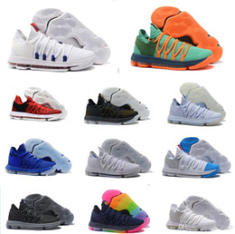 ec25c5abb8b3fc Wholesale KD10 low Oreo Kevin Durant 10s KD 10 X black blue mens shoes  casual outdoor trainers size 7-12