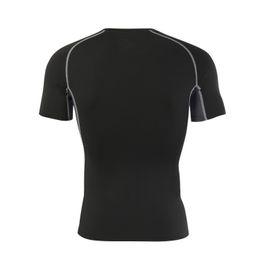 Medias para hombres Deportes para hombres, mangas cortas, camisetas deportivas, trajes de entrenamiento elásticos, secado, transpirable, ropa absorbente del sudor. desde fabricantes