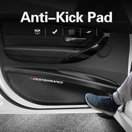 Proteção de carros de porta on-line-BMW E90 F30 F10 F07 F20 F25 F26 F15 F16 E84 F48 X1 X3 X5 carro porta Anti-Kick Fiber Pad carbono couro de PVC Porta de Proteção Filme Adesivos
