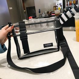 Messenger Bag Meninas Moda Transparente Rua Personalidade Versátil Ombro Messenger Bag de