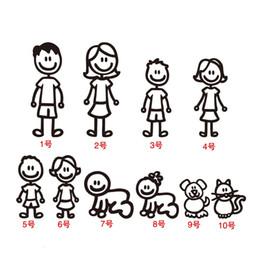 2019 katze aufkleber auto fenster Familie Auto Aufkleber Vater Mutter Söhne Tochter Hund Katze Auto Heckscheibe Aufkleber DIY Abbildung Aufkleber PET Wasserdicht Zubehör günstig katze aufkleber auto fenster