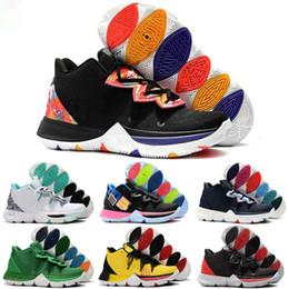 2019 zapatos deportivos brasil Alta calidad Barato Irving 5 PE Taco Concepts x Ikhet Brazil Neon Blends Black Magic Zapatos para hombre para 5s zapatillas deportivas tamaño 40-46