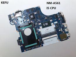 Placa base gráfica online-KEFU Para Lenovo ThinkPad E560 Laptop Motherboard NM-A561 con cpu i5-6200u con chips de tarjetas gráficas funciona perfectamente