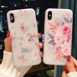 Старинный розовый телефон онлайн-Винтажный силиконовый чехол для телефона для iPhone 7 8 Plus Rose Цветочные листья Чехлы для iPhone X 8 7 6 6S Plus 5 5S SE Мягкая крышка ТПУ
