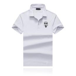 2019 marinha camiseta 19SS Moda Verão Menswear Designer T Shirt Menswear Boutique Designer Camisa Polo Menswear Azul Marinho com Branco Opcional desconto marinha camiseta