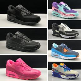 sale retailer e3c1a 51d38 Nike air max 90 Sneakers Chaussures classic 90 garçon fille enfants enfants  Chaussures de course Noir Rouge Blanc Coussin de Sport Air Surface  Respirant ...