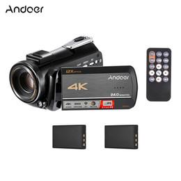 Andoer AC5 WiFi 4K UHD 24MP Videocámara digital Grabadora de video DV 3.1 pulgadas IPS Pantalla táctil 12X Zoom óptico Time-lapse desde fabricantes