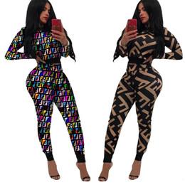 Femmes Impression Deux Pièces Ensemble Night Club Wear Push Up Pantalon Court Crop Top Long Longueur Élastique Taille Pantalon Femme Ensemble Complet Manches ? partir de fabricateur