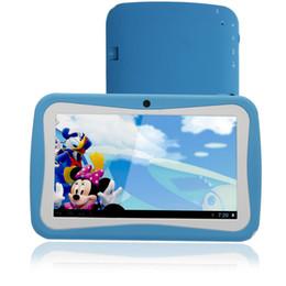 2019 chamando comprimidos hdmi Mais novo 7 polegada Crianças Tablet PC RK Quad Core 8G ROM Android 4.4 Com Crianças Aplicativos Educativos Dual Camera PAD para Crianças tablet