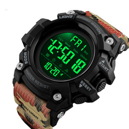 будильник обратного отсчета часов Скидка Outdoor Sport Watch Men Countdown Alarm Clock Fashion Watches 5Bar Waterproof Digital Watch Relogio Masculino 1384