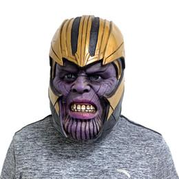 Argentina Final de partida de Marvel Avenger Thanos máscara de la máscara del traje de Cosplay Carnival Sombrero de la mascarada del actor completa Suministro