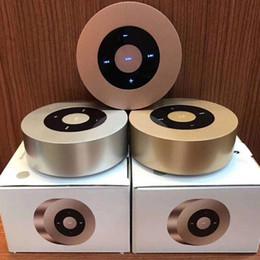 2019 usb lautsprecher puppe Heißer kreative tragbare drahtlose bluetooth runde metall tragbare lautsprecher unterstützung tragbare musik sound box spielen lautstärkeregler lautsprecher