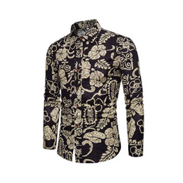 c581876f21a Men Hawaiian Shirts New Long Sleeve Luxury Black Printed Beach Shirt Mens  Women Casual Vacation Slim Fit Dress Camisas De Hombre