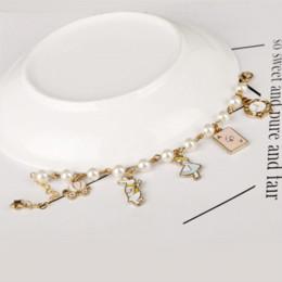 Bracelet des merveilles en Ligne-MQCHUN mode femmes bijoux accessoires mignons alice au pays des merveilles lapin horloge imitation perle maille chaîne bracelet charme bracelet