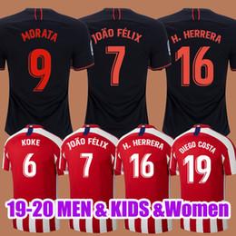 Джерси диего коста онлайн-Атлетико-де-Мадрид футбол Джерси 2019 2020 Джоа Феликс Коук Саул Диего Коста Годин 19 20 мужчин дети футболка комплект футболки camiseta de fútbol