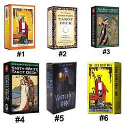 2019 научный пакет 6 стили Таро ведьма всадник Смит Уэйт Маг Таро палуба настольная игра Карты с красочной коробке английская версия