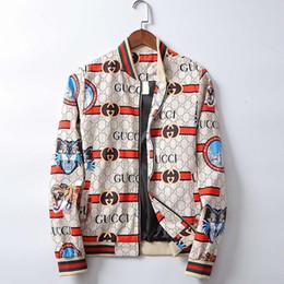 Jack primavera online-Giacca bomber da donna con stampa stilista da uomo con cerniera manica lunga Giacca da baseball sottile giacca da donna primavera e autunno cappotto di alta qualità