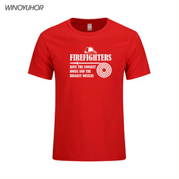 2019 bombeiro camiseta Camisetas de Bombeiros Homens de Verão Casual T-shirt de Manga Curta de Algodão Engraçado Presente Do Bombeiro Tops Camisetas Homem Tshirt bombeiro camiseta barato