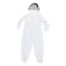 free full body suits Coupons - Professional Polyester Cotton Full Body Beekeeping Suit with Veil Hood Size L XL XXL comfortable free US shipping