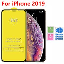 Galáxia núcleo vidro temperado on-line-Protetor de tela de telefone de vidro temperado 9D Full Cover para Iphone 11 2019 XR XS Max 8 7 6 Samsung Galaxy A20 Core A40 A30 A20 A10E S10E A70 A80