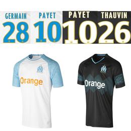 2019 Maillot De Foot PAYET L. GUSTAVO THAUVIN 18 19 OM Home белые третьи футбольные майки 2018 Olympique de Marseille BALOTELLI футбольные майки от