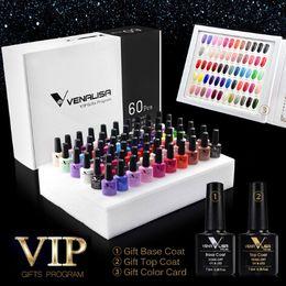 2019 gel couleurs parfaites Vernis à ongles 60 couleurs A Set comprenant le gel de base / supérieur Gel de beauté pour les ongles professionnel Vernis de gel longue durée