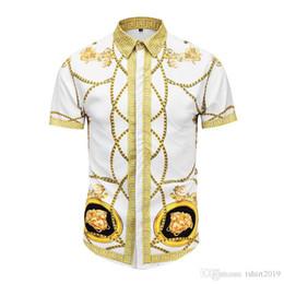 Chemises décontractées hawaïennes en Ligne-Chemises florales de mode pour hommes 2019 été nouvelle impression 3D Mode décontractée mince chemise hawaïenne plage marcher M-2XL