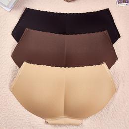 Látex mujer sexy online-Las mujeres de látex Butt Lifter Bragas Señora cintura entrenador Ropa interior Adelgazante Calzoncillos Falso Butt Up Hips Enhancer TTA696
