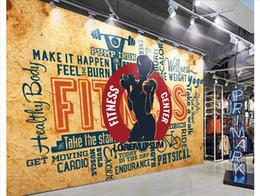 pinturas clássicas anjos Desconto Personalizado estéreo 3D ginásio de esportes foto papel de parede mural Retro vintage gym fundo parede Papel de parede