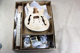 Гитара из красного дерева онлайн-Полуголая электрическая гитара (на заказ) с корпусом из красного дерева