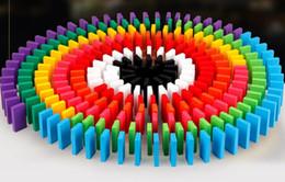 2019 juegos pc pc 2019 venta caliente 100 unidslote juego de mesa para regalo de los niños Bloques de dominó de madera conjunto pintura niños juguetes juguetes de madera dominós rebajas juegos pc pc