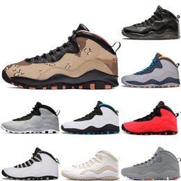 5560d642ef6a Desert camo 10s Cement Basketball Shoes sneaker 10 black white grey  310805-062 Chicago 2018 athletic sports sneaker scarpe new chaussure athletic  shoes camo ...
