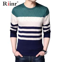 koreanischen stil pullover männlich Rabatt Thin 2019 neue Art und Weise Marke Pullover Männer Pullover Slim Fit Pullover Strick Gestreifte Winter-koreanische Art Lässige Kleidung Männlich